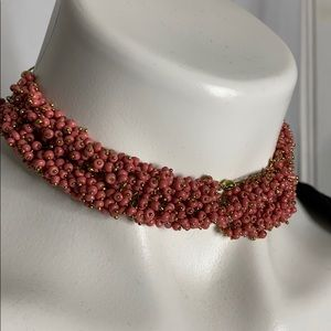 Little pink seed bead necklace